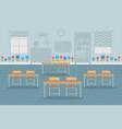 empty classroom interior design flat vector image