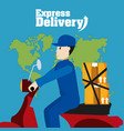 express delivery service vector image vector image