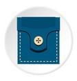 fashion pocket for shirt icon circle vector image vector image