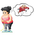 fat girl with liver damage vector image