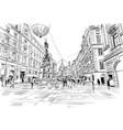 graben street plague column vienna austria vector image vector image