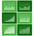 graphical diagram poster set vector image vector image