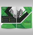 green business brochure cover template vector image