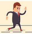 happy businessman Manager character on vector image