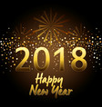 happy new year 2018 postcard vector image