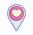 happy valentines day pointer location love heart vector image