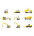 heavy truck construction set collections with vector image vector image