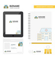 hospital business logo tab app diary pvc employee vector image vector image
