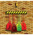 jobs under construction vector image vector image