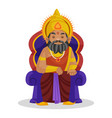 king dhritarashtra cartoon character vector image