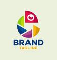modern photo chameleon logo vector image