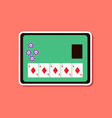 paper sticker on stylish background poker board vector image vector image