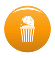 popcorn icon orange vector image