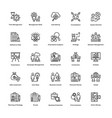 project management line icons set 13 vector image