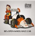 race car driver vector image