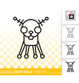 robot dog simple black line icon vector image vector image