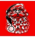 Santa Claus Face Greeting Card vector image vector image