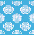 sea shell seamless background vector image vector image
