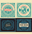 set of 4 vintage labels vector image vector image