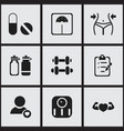 set of 9 editable sport icons includes symbols vector image vector image