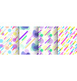 set of abstract seamless background available in vector image vector image