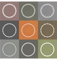 set round frames vector image vector image
