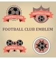 Set soccer football emblems vector image vector image