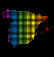 spectrum dot lgbt spain map vector image