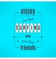 surfing lesson poster with lettering design vector image vector image
