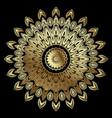 textured abstract gold mandala pattern ornamental vector image vector image