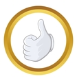Thumbs up icon vector image vector image