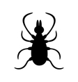 Tick insect silhouette shape Mite deer ticks big vector image vector image