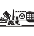 Waste recycling plant vector image