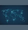 world map modern vector image vector image