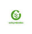 worm and leaf symbiotic logo icon template vector image