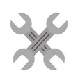 wrenchs crossed isolated icon vector image vector image