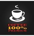 premium coffee cup label concept menu poster vector image