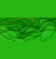abstract background with expressive green wave vector image vector image