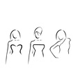 Abstract women with beautiful necklines vector image vector image