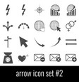 arrow icon set 2 gray icons on white background vector image