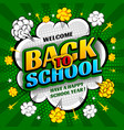 back to school background design in pop art style vector image vector image