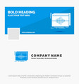 blue business logo template for audio frequency vector image