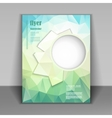 booklet with fresh polygonal pattern vector image vector image