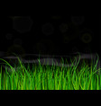 bright and juicy green grass on a black background vector image