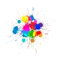 Bright Ink Color Blots on the white vector image