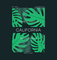 california leaves t-shirt vector image vector image