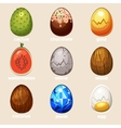 cartoon texture eggs in vector image vector image