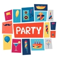 Celebration background with party icons and