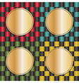 checkered backgrounds vector image vector image