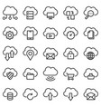 cloud technology icons vector image vector image